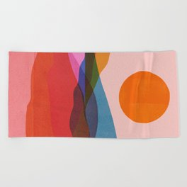 Abstraction_OCEAN_Beach_Minimalism_001 Beach Towel
