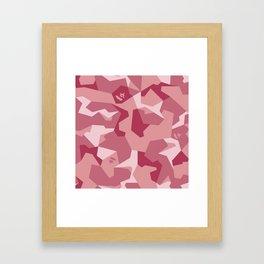 Splinter Camo Shark Framed Art Print