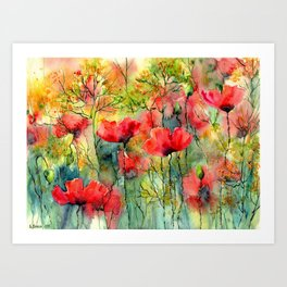 The Poppies Grow Art Print