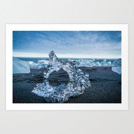 The Ice Horseshoe in Iceland Art Print
