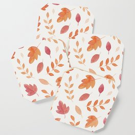 Fall leaves pattern Coaster