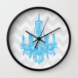 chevron chandelier Wall Clock