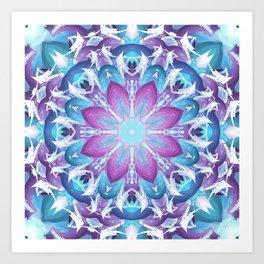 Radiate Love Mandala Art Print