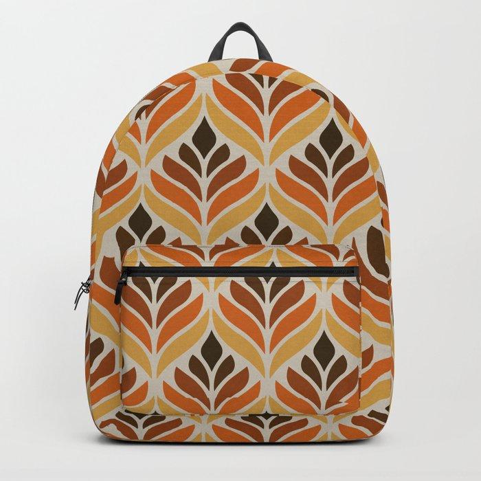 Retro Flower Pattern Backpack