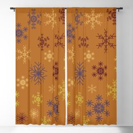 Cute Modern Christmas Snowflakes Repeating Seamless Pattern Blackout Curtain