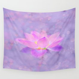 Lotus Emerging from the Water Wall Tapestry