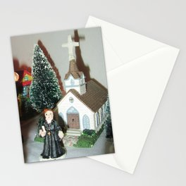 Christmas Chapel  Stationery Cards