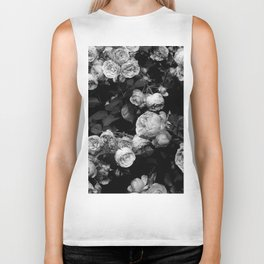 Roses are black and white Biker Tank