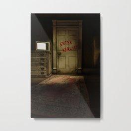Enter Reality - Anti-Television Artwork Metal Print