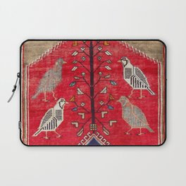 Persian Floral Rug With Several Birds Probably Quail Laptop Sleeve