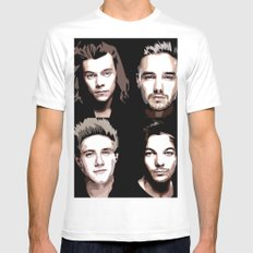 ONE DIRECTION Vector Portrait White MEDIUM Mens Fitted Tee