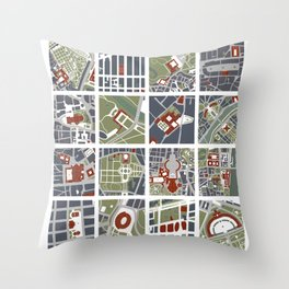 Urban fragments I of‪ NewYork‬, ‎Paris‬, London‬, Berlin‬, Rome‬ and Seville Throw Pillow