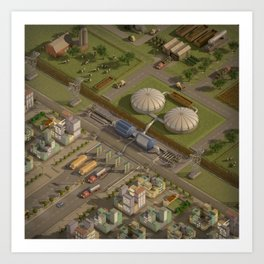 Biogas City Art Print