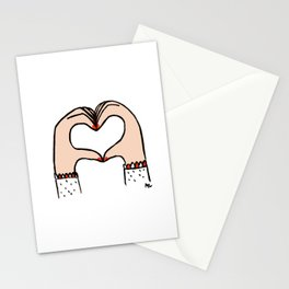 Heart Hands Stationery Cards