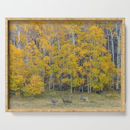 Aspen Forest and Deer Serving Tray