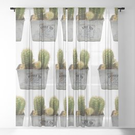 Twin Cactus Sheer Curtain