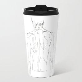 Line XVII (male [back]) Travel Mug