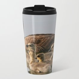 Mother Goose and Her Goslings Metal Travel Mug