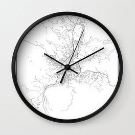 Minimal City Maps - Map Of Banja Luka, Bosnia And Herzegovina. Wall Clock