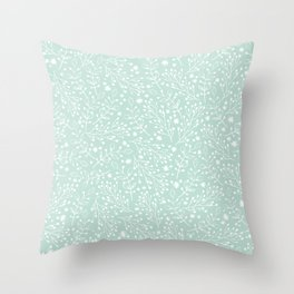 Floral twigs delicate background Throw Pillow