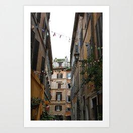 An alleyway in Rome. Art Print