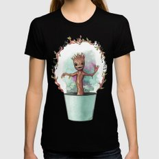 Baby Groot Womens Fitted Tee Black X-LARGE
