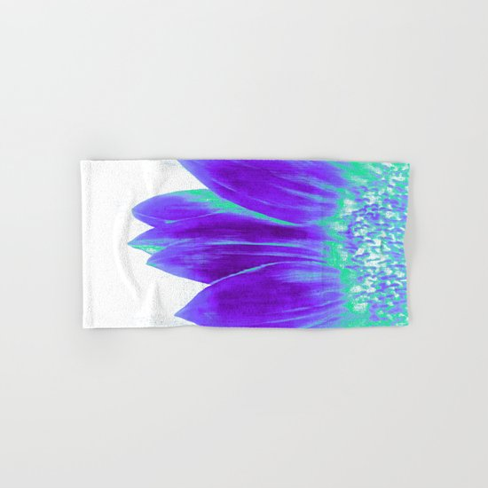 Sunflower Bright Violet & Mint Green Hand & Bath Towel