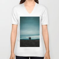 iceland V-neck T-shirts featuring Iceland View by MarsStation