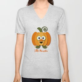 Halloween Little Orange Pumpkin Unisex V-Neck