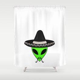 Intergalactic Immigrant Shower Curtain
