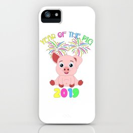 Year Of The Pig Chinese New Year Astrology Zodiac iPhone Case