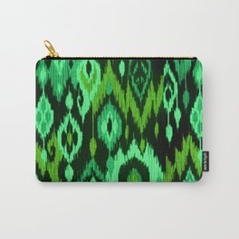 MODERN IKAT TRIBAL PATTERN | green Carry-All Pouch