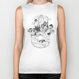 Hamsa in Nature Biker Tank