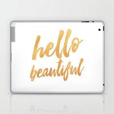 Hello Beautiful - Gold Typography Laptop & iPad Skin