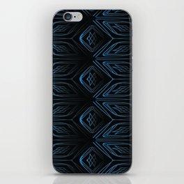 Cubed   Black and Blue Design iPhone Skin
