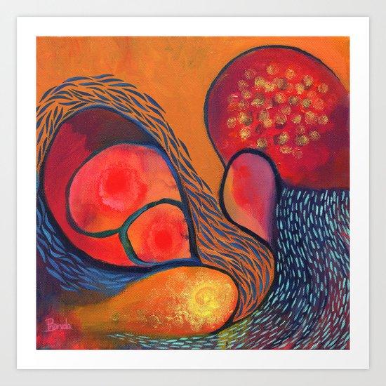 Dance in Orange Art Print