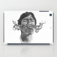 moustache iPad Cases featuring Moustache by Anna Fullerton