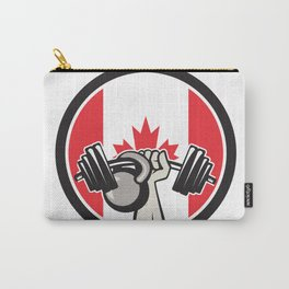 Hand Lifting Barbell Kettlebell Canada Flag Carry-All Pouch