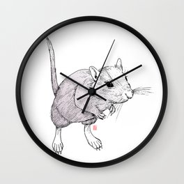 Gerbil On Wall Clock