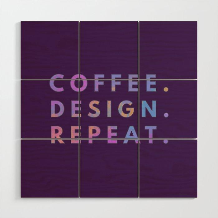 Coffee Design Repeat Wood Wall Art