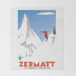 Zermatt, Valais, Switzerland Throw Blanket