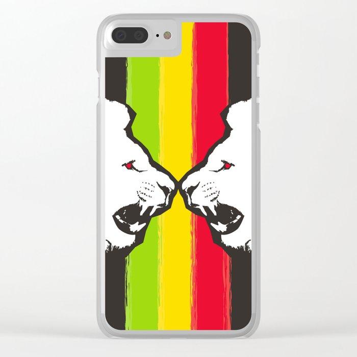 Rasta Lions (The Kingdom) Clear iPhone Case