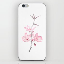 pink cherry blossom macro 2018 iPhone Skin