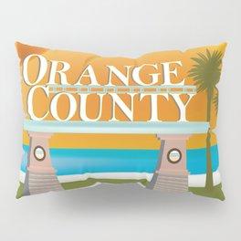 Orange County, California - Skyline Illustration by Loose Petals Pillow Sham