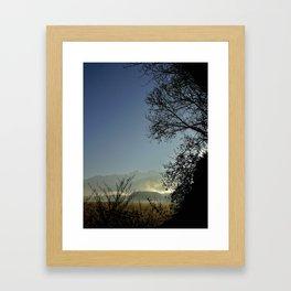 Grenoble Cornfield  Framed Art Print