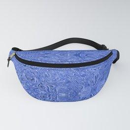 Blue ink swirl Fanny Pack