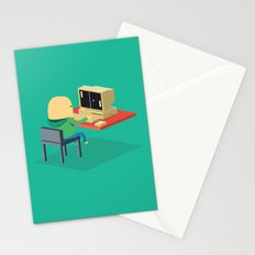 Nerd playing Pong Stationery Cards