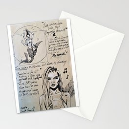 A Study of Mermaids Stationery Cards