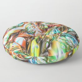 Colorful Melted Glass Floor Pillow