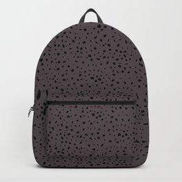 Speckled Pattern on Warm Grey Backpack